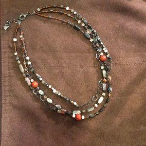 "Boho Chic Silpada 16-17.5"" beaded Necklace"